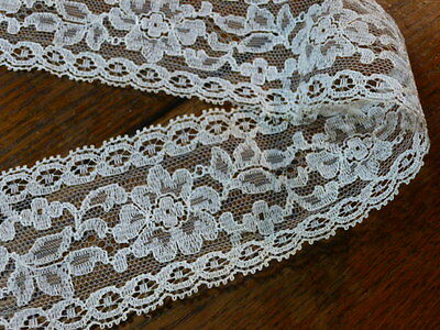VINTAGE White  LACE TRIM EDGING  VINTAGE Wedding Crafts Doll Clothes 5 Yards