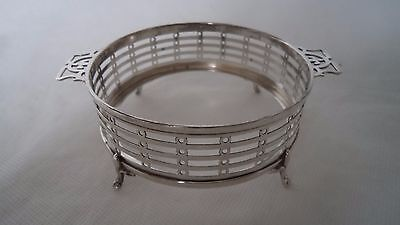 Antique 1925 Solid / Sterling Silver Coaster / Dish