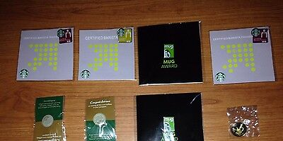 Set of 8 Assorted Brand New Starbucks Pins in Package!