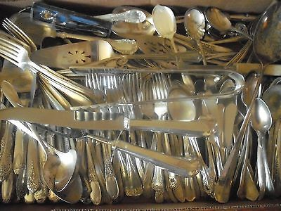 150 Pc Mixed Lot Silverplate/Antique Flatware/Serving   #121