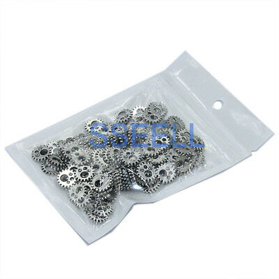 30X Tibetan Silver Gear Charms Bead Watch Parts Steampunk Cogs DIY Jewelry Craft