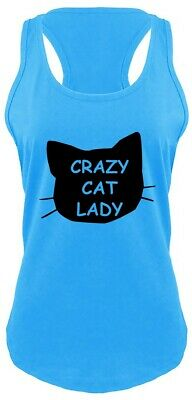 Crazy Cat Lady Funny Ladies Tank Top Cat Lover Kitten Holiday Gift Racerback Z6
