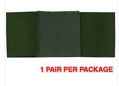 "Boot Bands: 2"" Wide Green Trouser Blousers Boot Band Bands Pair  Per  Package"