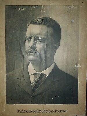 Theodore Roosevelt William Mckinkey campaign poster 1900 2 posters on 1 sign