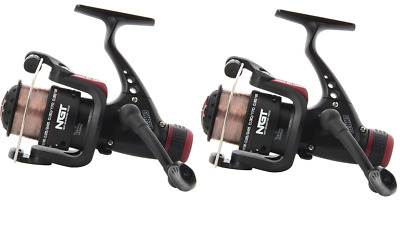 2 x NGT CKR CARP COARSE FLOAT FEEDER FISHING REELS  WITH 8LB LINE