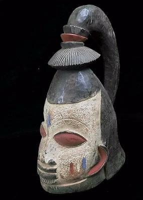 Old Tribal Yoruba Gelede  Ceremonial Helmet  Mask  --- Nigeria  BN 39