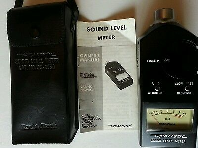 EXCELLENT CONDITION - Realistic 33-2050 Analog Display Sound Level Meter
