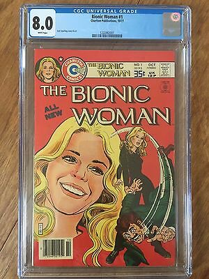 Bionic Woman  #1  Cgc  8.0   (White Pages)