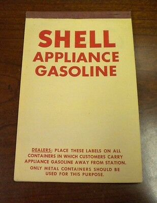 Shell Appliance Gasoline booklet with ten labels