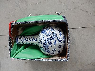 CHINESE DRAGON VASE BOXED  ex Country House  20th c