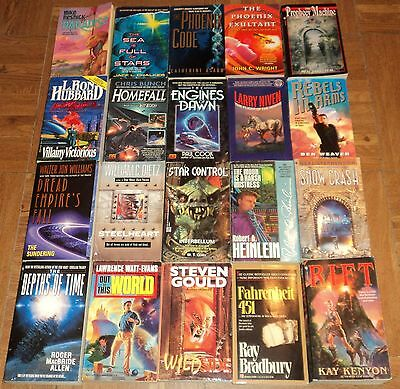 """SCIENCE FICTION"" PAPERBACK COLLECTION - Lot of 20 - Great Sci-Fi Reading!!"