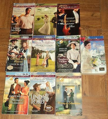 """LOVE INSPIRED """"HISTORICAL"""" CHRISTIAN ROMANCE PAPERBACK COLLECTION - Lot of 10"""