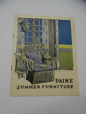 c.1915 Paine Furniture Co Summer Furniture Catalog Reed Willow Arts & Crafts Era