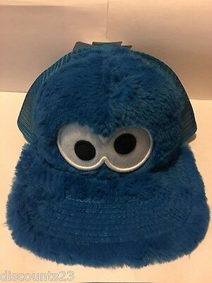 Authentic Licensed Cookie Monster Mesh Hat PBS Sesame Street Snapback FREE SHIP