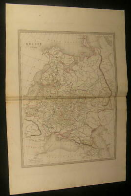 Russia in Europe Crimea Finland Black Sea Poland 1846 antique engraved color map