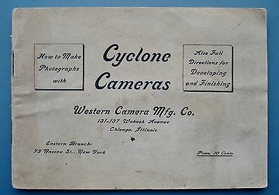 Vintage 1900's CYCLONE BOX CAMERAS Instruction BOOKLET