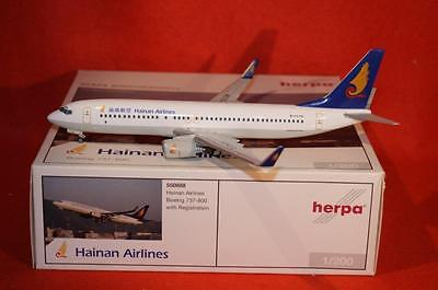 New Herpa 550888 Hainan Airlines Boeing 737-800 - 1:200 Scale Limited Edition