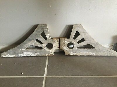 Architectural Salvage Antique Wood Corbel Pair Of Victorian Gingerbread Brackets
