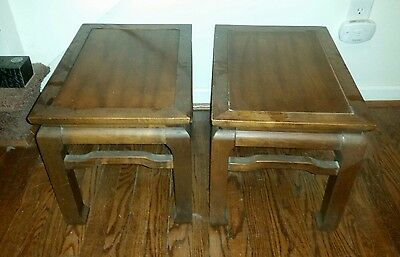 Vtg Baker Ming Style reversable stools Benches End Tables circa 1978 retro asian