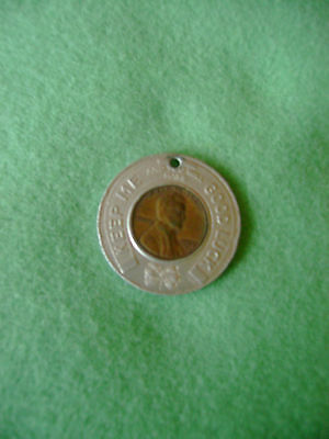 Magee Family Picnic Good Luck Token with 1960 Penny Bloomsburg PA