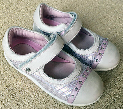 Stride Rite SRT Pink Sparkle Girls Toddler Mary Jane Shoes Sz 8
