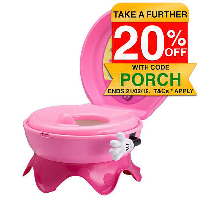 Disney Baby Minnie Mouse 3-in-1 Potty System Toddler Toilet Training Seat/Stool