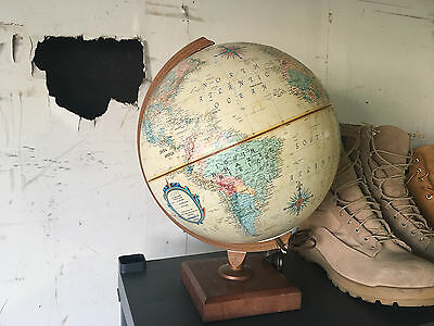 "Vintage Replogle World Light Up 12"" Globe With Base"