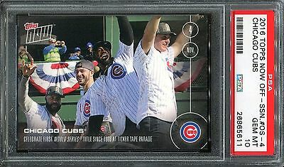 2016 Topps NOW #OS4 - Cubs World Series Parade Rizzo & Kris Byrant - PSA 10 GEM