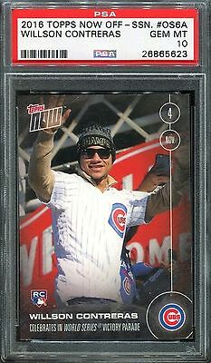 2016 Topps Now WORLD SERIES PARADE CHICAGO CUBS Willson Contreras ROOKIE PSA 10