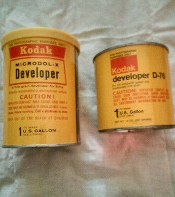 Vintage Kodak Developer one D-76 & Microdol-X Developer