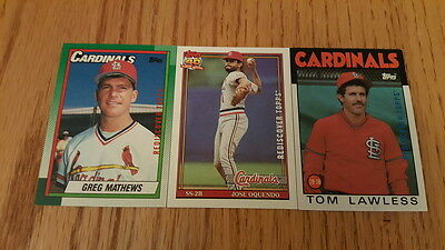2017 Topps Series 1 Heritage Buyback Team Lot CARDINAL 3 cards OQUENDO