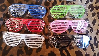 Lot of 19 Plastic Shutter Sunglasses, Perfect Party Favors, NEW