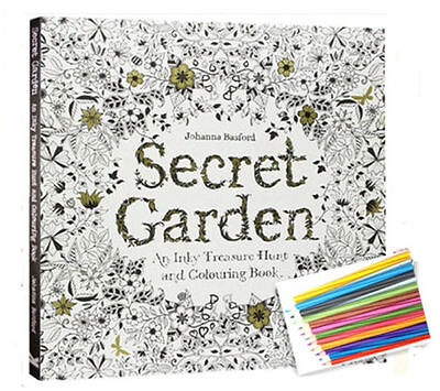 Secret Garden Coloring book+12 colors Colored Pencil Children & Young Adults Hot