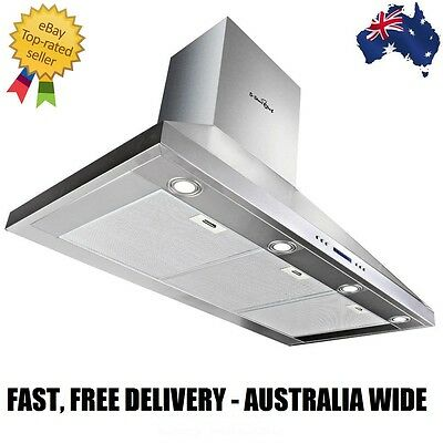 Commercial Rangehood Stainless Kitchen Canopy BBQ Exhaust Fan Range Hood 120cm