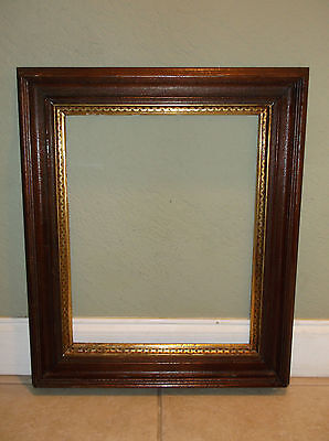 Antique Victorian Wood Picture Frame