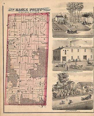 1872 OGLE COUNTY maps GENEALOGY Atlas ILLINOIS state PLAT old LAND OWNER DVD P21