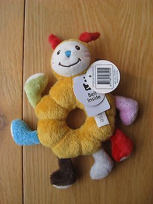 Happy Horse Bright Colours Caterpillar Soft Plush Rattle Toy for Baby Brand New