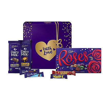 NEW Cadbury Roses Chocolate Gift Hamper - Sml - With Love