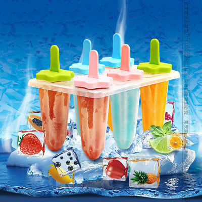Silicone Popsicle Mold Tray Ice Cream Maker Ice Cube Pop Mold Frozen Lolly Mould