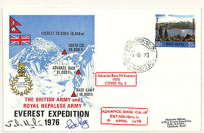 W262 1976 NEPAL *Everest Expedition* SIGNED MOUNTAINEERING Cover {samwells}