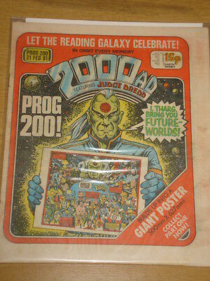 2000Ad #200 British Weekly Comic Judge Dredd Feb 1981 *