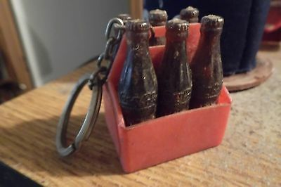 Vintage mini coco-cola six pack key chain.