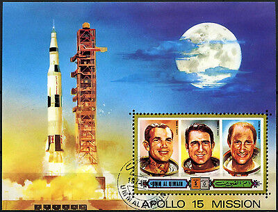Umm Al Qiwan 1971 Apollo 15 Space Mission Cto Used M/S #D47829