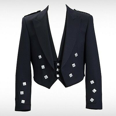 """Prince Charlie jacket and vest-waist coat/ Wool Polyester size 38"""" to 50"""" //"""
