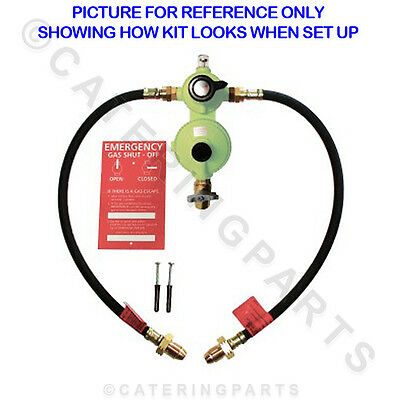 2 Bottle Twin Lpg Lp Cylinder Changeover Kit Opso Over Pressure Shut Of Valve