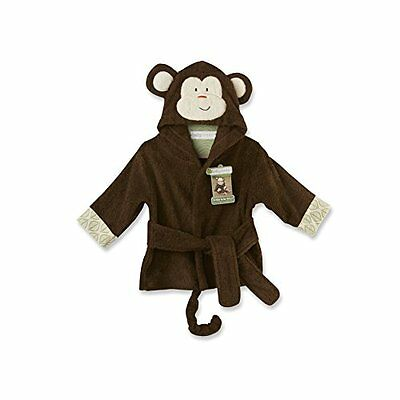Baby Aspen Born to be Wild Monkey Hooded Spa Robe, Brown, 0-9 Months