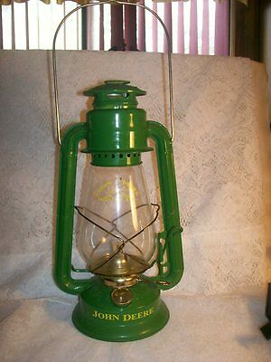 John Deere Moline Ill. Green Collectible Oil Lantern Eagle 12 Inches