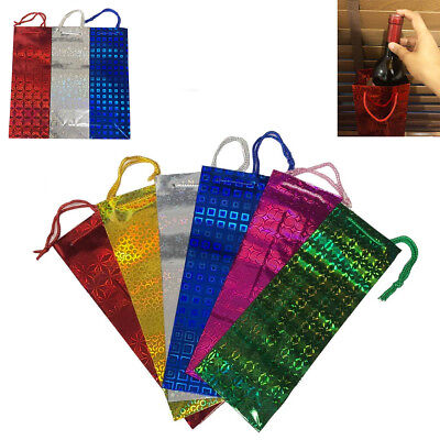 Wine Bottle Gift Bags Holographic Paper Party Vine Present Christmas Wedding Mix