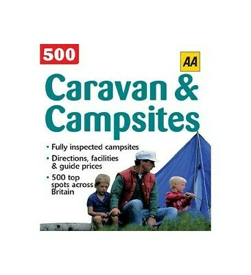 AA 500 Campsites for Families, Aa Paperback Book The Cheap Fast Free Post