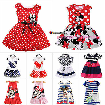 Toddler Kids Baby Girl Princess Summer Dresses Party Tutu Clothes Skirt Age 0-7Y